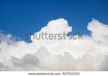 blue skys and white clouds. Nature composition. - stock photo