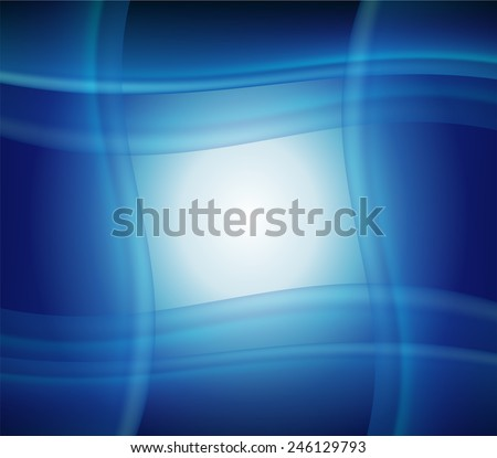 Blue smooth twist light lines  background - stock photo