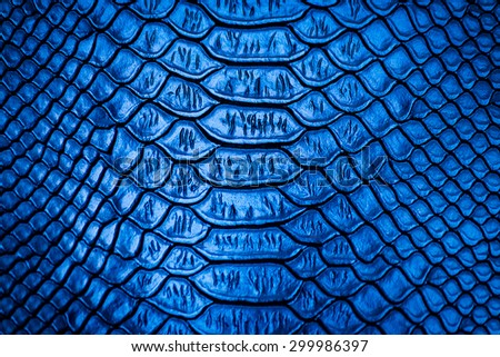 Blue snake skin pattern texture background - stock photo