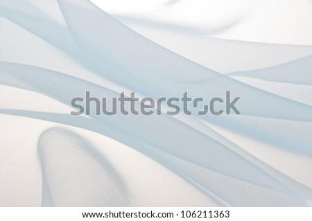 blue soft chiffon texture background - stock photo