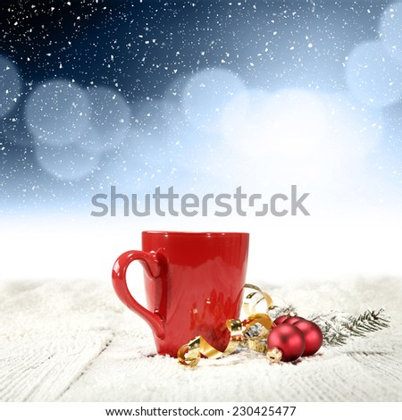 blue space and winter time  - stock photo