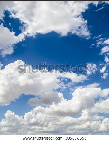 blue space in cloudy sky  - stock photo
