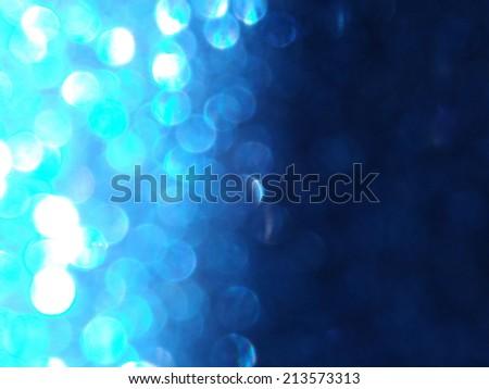 Blue Sparkles - stock photo
