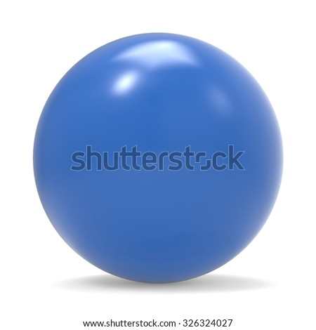 Blue sphere isolated on white background - stock photo
