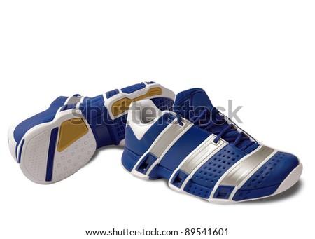 Blue sport shoes - stock photo