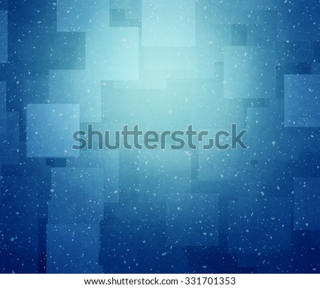 blue square abstract background - stock photo
