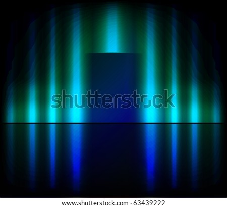 Blue stage background. - stock photo