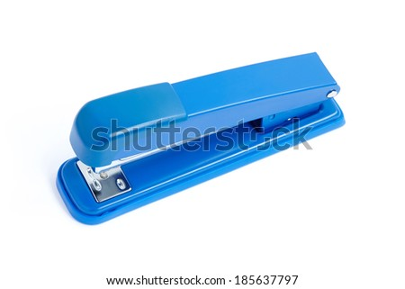 Blue Stapler isolated on white background - stock photo