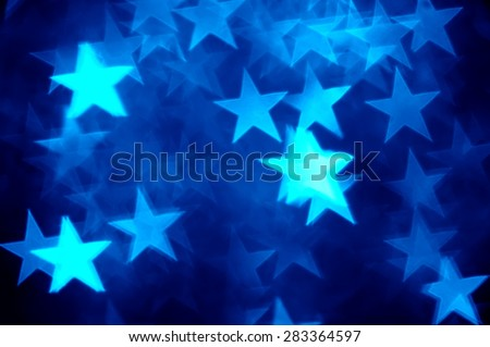 blue star shape holiday photo as background - stock photo