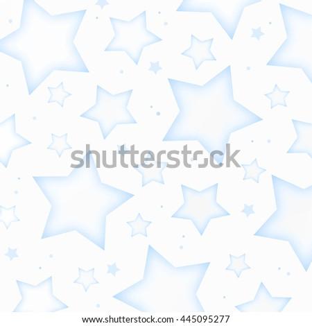 Blue Stars Background - stock photo