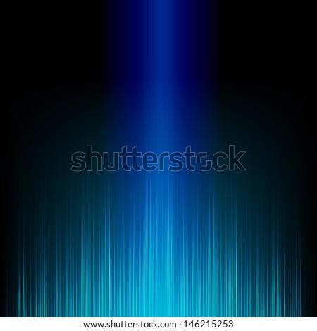 Blue stylish equalizer - stock photo
