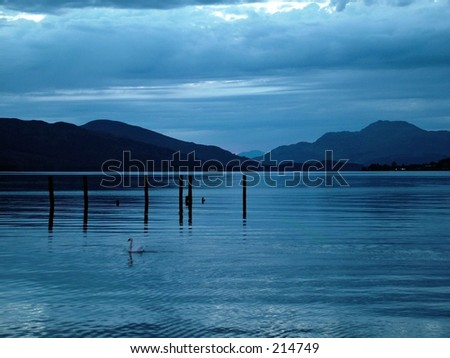 blue sunset 3 - stock photo
