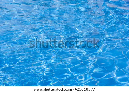 Blue swimming pool rippled water. - stock photo