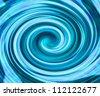 Blue Swirl Background - stock photo