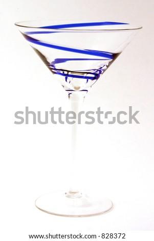 Blue Swirl Glass - stock photo