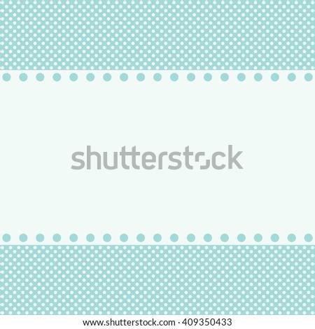 Blue template for children's congratulatory cards - stock photo