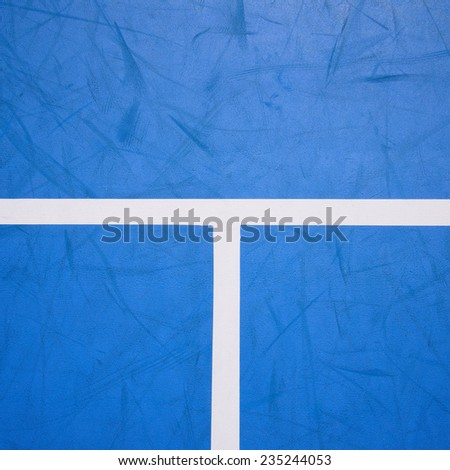 blue tennis court surface, sport background - stock photo
