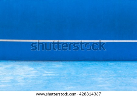 Blue tennis knock board, old tennis court, outdoor activity sport. concept : healthy sport activity, hobby, exercise  - stock photo