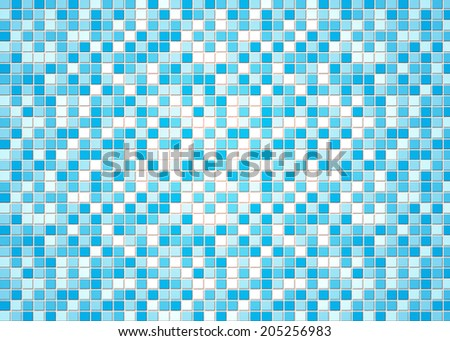blue tile wall - stock photo