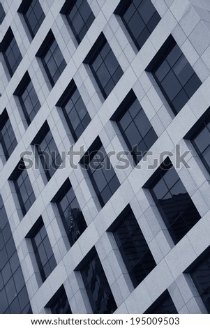 Blue Toned Modern architecture background  - stock photo