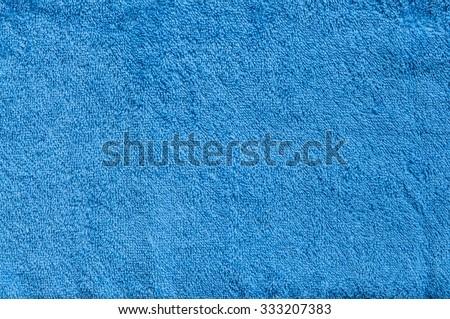 blue towel background - stock photo