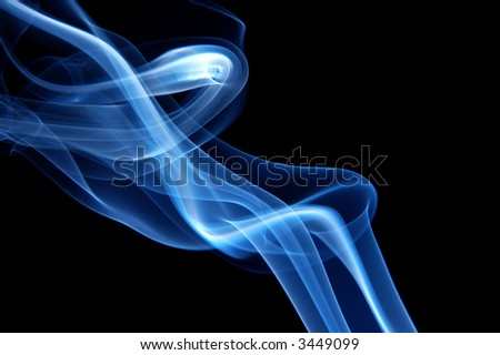 Blue trendy smoke - stock photo