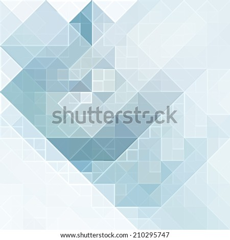 blue triangle background - stock photo