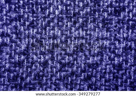 Blue tweed like texture, blue wool pattern, textured  melange upholstery fabric background copy space.  Background texture of twill - stock photo