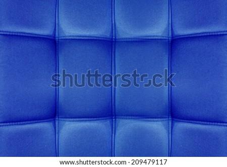 Blue Velvet leather texture from sofa - stock photo