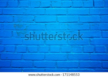 Blue wall background - stock photo