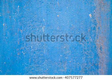 Blue wall background textured material interior architecture - stock photo