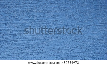 blue wall with decorative plaster background - stock photo
