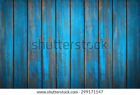 Blue washed wood texture. background old panels in high detailed photo - stock photo