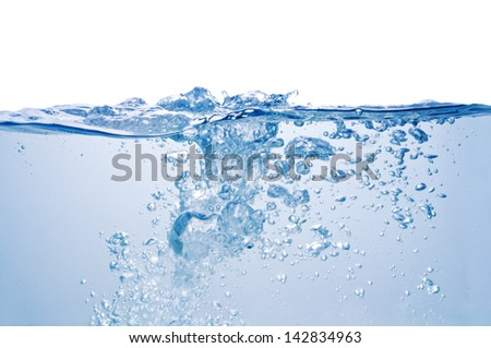 Blue water. - stock photo