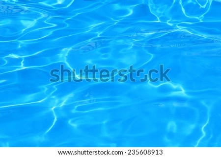 Blue Water Background - Refreshing Cool Summer Bliss - stock photo