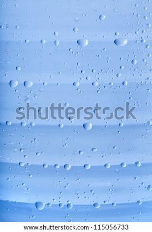 blue water bubbles in plastic bottle textire - stock photo