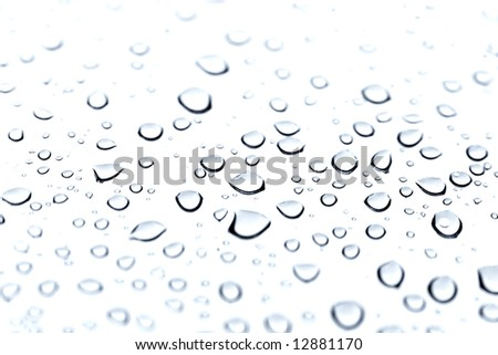 blue water drop for background - stock photo