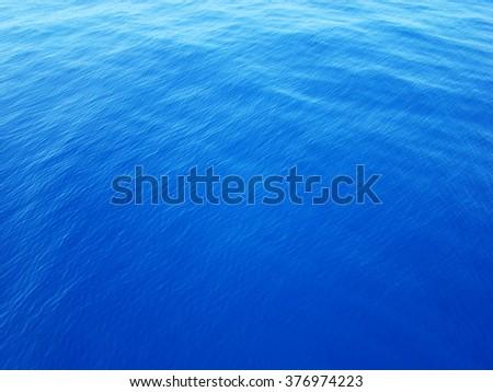 Blue water ocean.Ocean water background  - stock photo