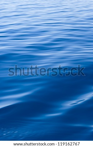 Blue water of Adriatic Sea. - stock photo