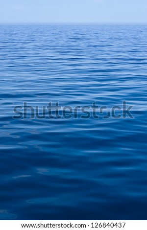 Blue water of Adriatic Sea. - stock photo