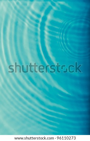 Blue water ripple wave - stock photo