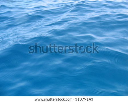 Blue water surface. Smooth pattern - stock photo