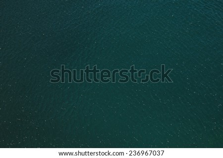 Blue Water Texture Pattern at Noon on the Atlantic Ocean - stock photo