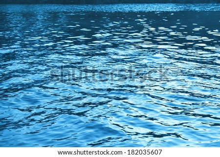 Blue water wave background - stock photo