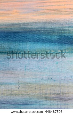 Blue Watercolor on Canvas 8 - stock photo