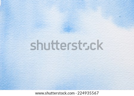 blue watercolour - textured  paper background for text - stock photo