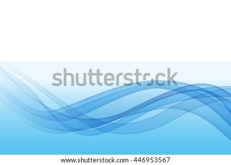 Blue wave abstract background - stock photo