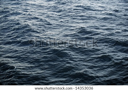 Blue wave on the ocean - stock photo