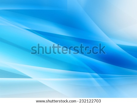 Blue Waves Abstract Background - stock photo