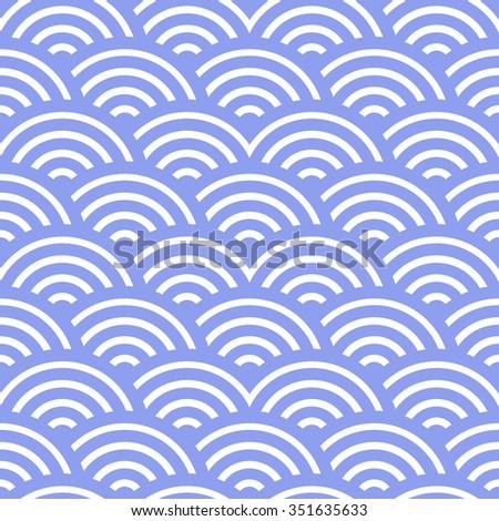 blue waves pattern, sea, water - stock photo